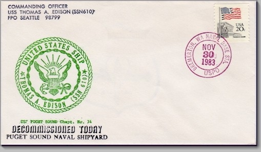 SSN-610 decomm. cover