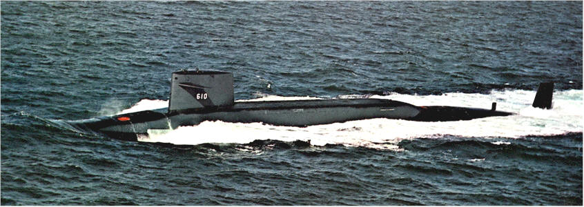 SSBN-610 sea trials
