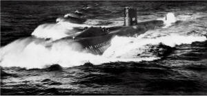 USS Halibut power run
