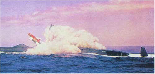 SSGN-587 launching regulus missile - image