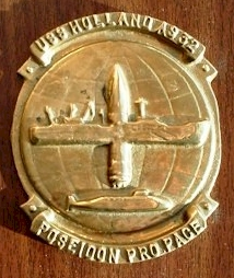 USS HOLLAND ship's plaque