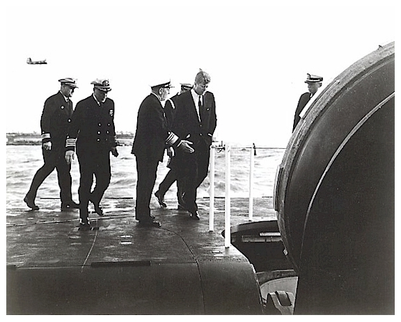 JFK on SSBN-610 6-14-62 - image