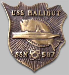 USS Halibut SSN-587 plaque