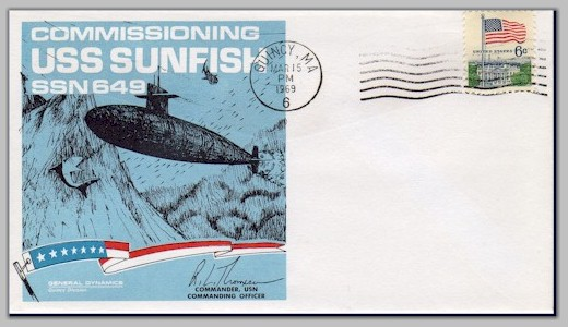 USS Sunfish (SSN 649) commissioning cover - image