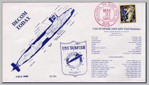 USS Sunfish (SSN 649) decomm. cover - image