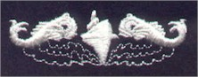 Early U.S. embroidered dolphins for dress blues - image