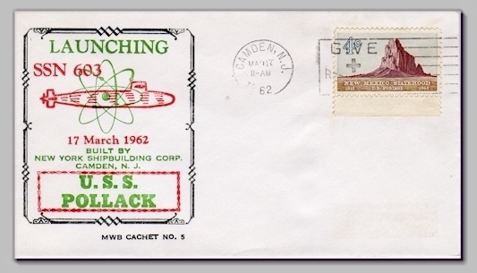 USS Pollack SSN-603 Launch cover